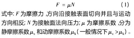 摩擦力公式
